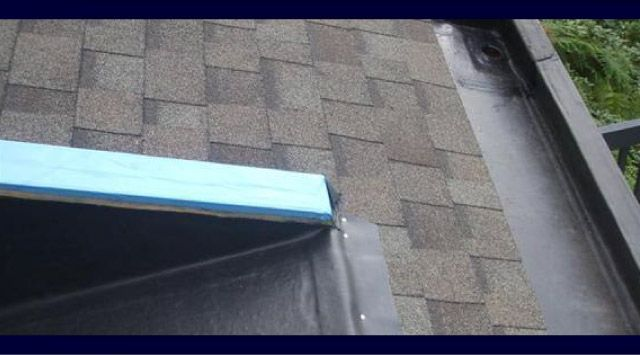 shingling deck edge built in gutter