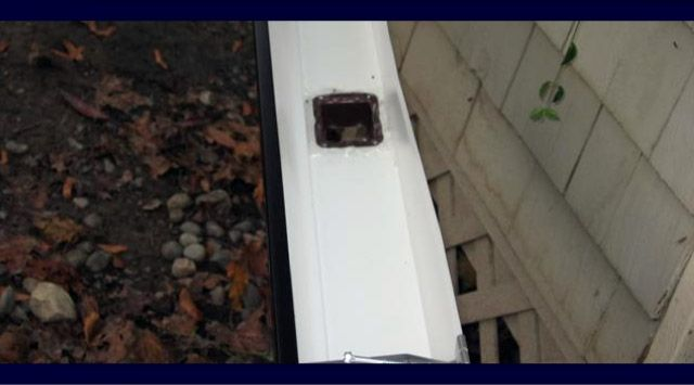 Gutter drop outlet